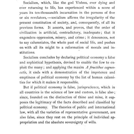 P-J Proudhon,  Systems of Economical Contradictions, 1888