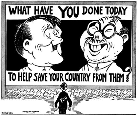 Dr Seuss WWII cartoon