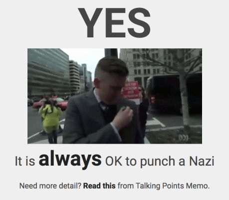 Can I Punch Nazis?